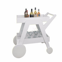Carrinho Barzinho Aparador Para Bebidas 4004 - Branco Cores