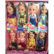 Disney Kit Boneco Princesa Anime Elas Ana Neve Bela Ariel