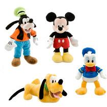 4 Pelucias Mickey, Pateta, Pluto E Donald - Originais Disney