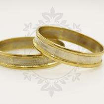 Par Alianzas Oro Blanco-amarillo Para Casamiento, Compromiso