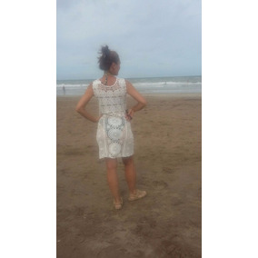 Vestido Playa Romantico Sensual Tejido Estilo Artesanal