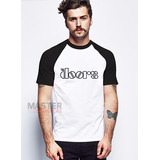 Camiseta Raglan The Doors Banda Rock - A Melhor Do Mercado !