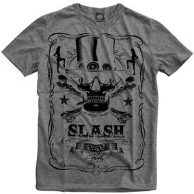 Guns N Roses Slash Mescla Banda Rock Camiseta Personalizada