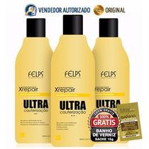 Kit Xrepair Ultra Cauterização 3x500ml Felps Profissional