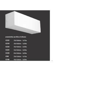 Plafon 60x10x9 Arandela Retangular Acrilico Luminaria 3 Lamp