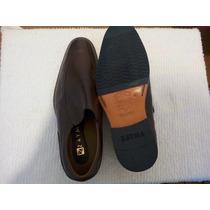 Zapatos De Cuero Marrón Talla 42 Tipo Mocazin..
