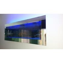 Aquário De Parede 140x15x70 Completo Acabamento Em Espelho