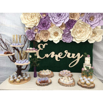 Flores Gigantes De Papel Para Quinceaños / Eventos / Fiestas