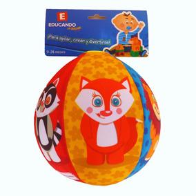 Pelota Soft Globo Con Diseño De Animales Para Bebes Educando