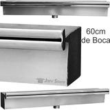 Cascata Aço Inox Embutir Parede De Piscina Modelo 60cm Boca