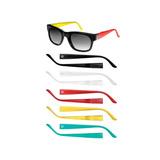 Óculos De Sol Champion Gs00005a Cinza Degradê Troca-haste