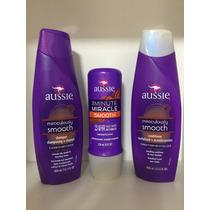Kit Aussie Smooth Shampoo Condicionador + Máscara