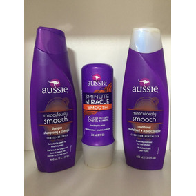 Kit Aussie Smooth Shampoo Condicionador + Máscara