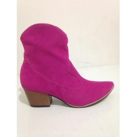 Bota Feminina Texana Cano Curto Pink