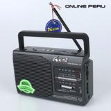 Radio Akita De Mano A Pila Y Bateria Color Negro