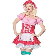 Disfraz Mujer Frutillita Disfraces Mujer Vestido + Sombrero