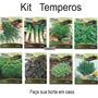 Sementes Kit Temperos 8 Tipos Horta Em Casa Frete Grátis