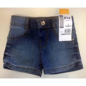 Shorts Puc Jeans Bebê Feminino