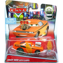 Cars Disney Pixar Snot Rod With Flames Bunny Toys