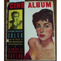 Revista Cine Album,elizabeth Taylor En Portada,domingo Soler