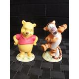 Disney Ursinho Puff + Tigrao Em Porcelana 11cm Lindo