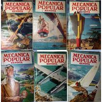 Tomo Con 6 Revistas De Mecánica Popular Del Año 1949