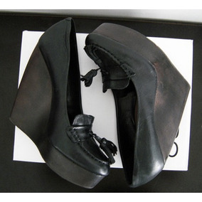Zapatos Aldo De Piel Tipo Mocasin Con Tacon Puente