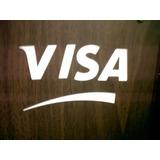 Vinilo Para Vidriera Tarjeta De Credito 8x12cm, Visa Master