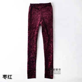 Calzas Terciopelo Tiro Alto Otoño/invierno Qilaixing