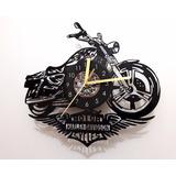 Reloj De Vinilo Harley Davidson Diseño Original