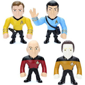 Kit Bonecos Star Trek Metals Die Cast Spock Kirk Picard Data