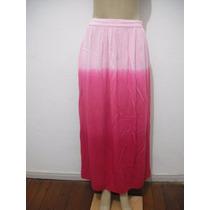 Saia Tie Die Longa Rosa Pink Tam P Usado Bom Estado