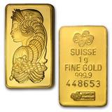 Pamp Suisse 1 G. Lingote Oro Puro .9999, Con Certificado.