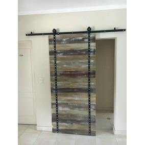 Puertas rusticas madera con rieles aberturas puertas for Puertas corredizas rusticas