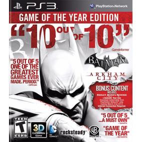 Batman Arkham City Ps3 Goty Edition Mídia Física Lacrada 3d