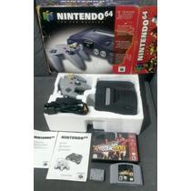 Nintendo 64 Completo Com Caixa Original + Memory Card + Jogo