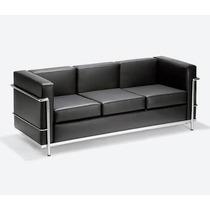 Sofá Le Corbusier - Lc Masculino 3 Lugares Cromado