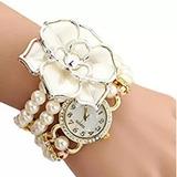 Binmer (tm) Reloj Pulsera De Dama/mujer Envuelta De Perlas