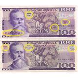 Par De Billetes 100 Pesos (variedad) Venustiano Carranza