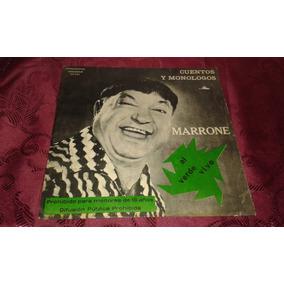Jose Marrone Al Verde Vivo Cuentos Y Monologos - Lp Vinilo