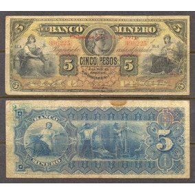 Bk-chi-85 Banco Minero De Chihuahua De 5 Pesos