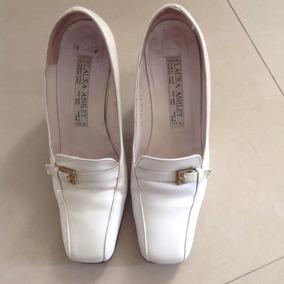 Zapatos Importados Laura Ashley Cuero Crema Talle 38
