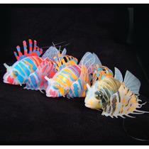 Enfeite Silicone Aquario Peixe Leão - 3 Modelo À Sua Escolha