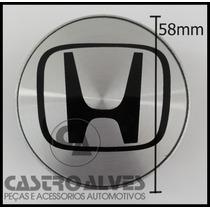 Calota Miolo Tampa Centro Roda Honda New Fit City 58mm Aro15
