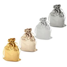 50 Saquinhos Cetim Kit Cor Neutra 15x20 Cm Nªº Organza Natal