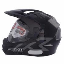 Capacete Moto Preto Brilhante X11 Crossover Cros Com Viseira
