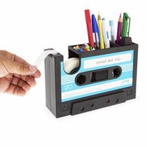 Lapicera Multi Funcional Forma De Cassette Color Azul T2015