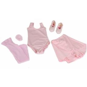 Kit Roupa Uniforme Figurino Ballet Vermelho Aula Infantil Df
