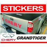 Calcomania Compuerta Para Camioneta Chery Grandtiger