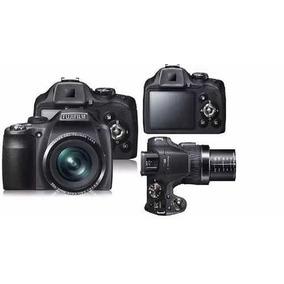 Câmera Fuji Finepix Sl300 14mp Zoom 30x + Tripé + Flasch Ext